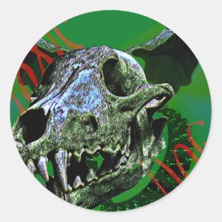 "Toxic Dog ""Bones"" Classic Round Sticker"