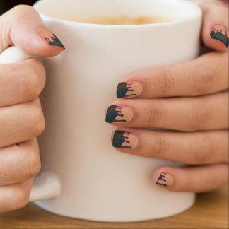 Toxic Drip Oil Slick Peach Melba Pink Minx Nails Minx Nail Wraps
