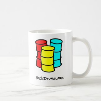 Toxic Drums Standard Mug White Dual Logo mug