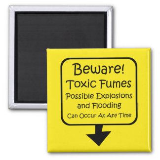 Toxic Fumes Baby 2 Inch Square Magnet