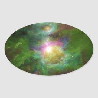 Toxic Galaxy Hip Space Art Oval Sticker