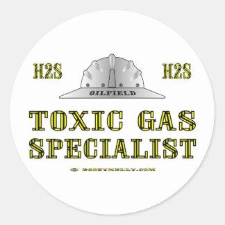 Toxic Gas Specialist, Oil Field Sticker