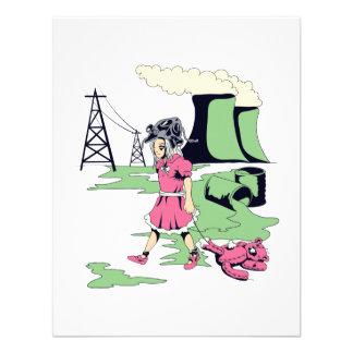 toxic girl vector illustration personalized invitation