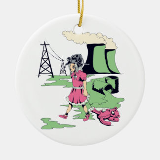 toxic girl vector illustration christmas tree ornaments