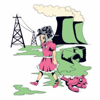 toxic girl vector illustration photo sculpture keychain