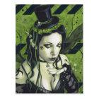 Toxic Gothic Green Fairy Postcard