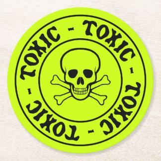 Toxic Green Skull Coaster