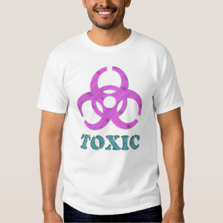 toxic in pink and aqua t-shirt