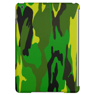 Toxic Jungle Green Camo Case For iPad Air