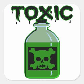 Toxic (Poison Bottle) Square Sticker