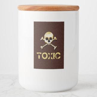 Toxic Skull And Crossbones Design Food Label