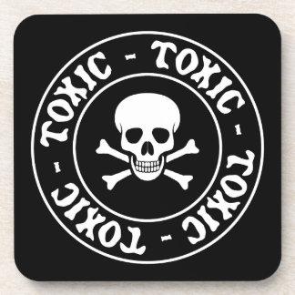 Toxic Skull and Crossbones Drink Coaster