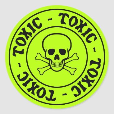 toxicWarnings Toxic Skull and Crossbones Sticker