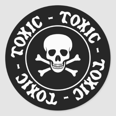 Toxic pink skull and crossbones sticker zazzle com