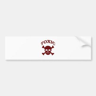 Toxic Skull Bumper Sticker