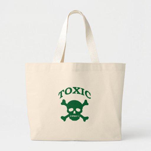 Toxic Skull Large Tote Bag