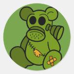 Toxic Teddy Classic Round Sticker