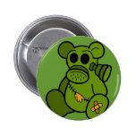 Toxic Teddy Pinback Button