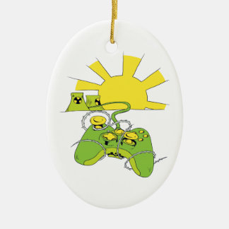 toxic video game pad controller christmas ornament