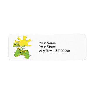 toxic video game pad controller return address label