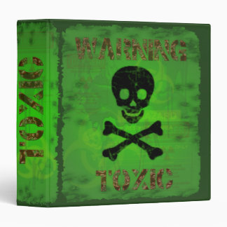 Toxic Warning Avery Binder