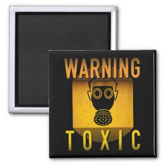 Toxic Warning Gas Mask Retro Atomic Age Grunge : Magnet