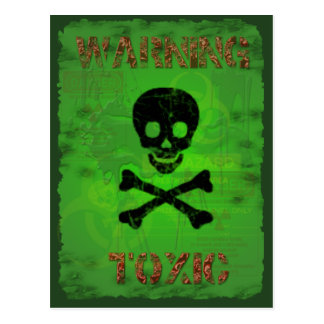 Toxic Warning Recipe Card Postcard