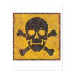 Toxic Warning Sign Postcard