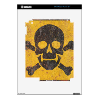 Toxic Warning Sign Skins For The iPad 2