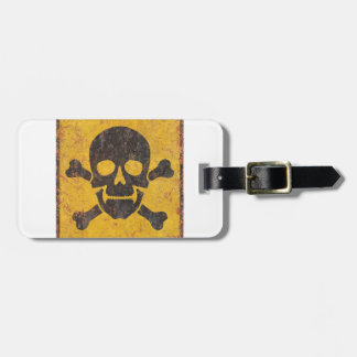 Toxic Warning Sign Tag For Luggage
