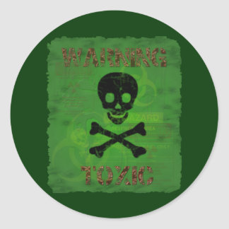 Toxic Warning Sticker