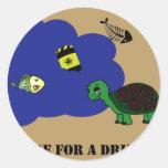 toxic water turtle classic round sticker