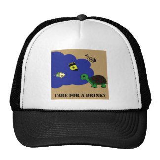 toxic water turtle mesh hats