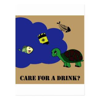 toxic water turtle postcard