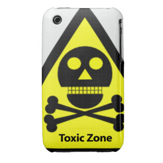 Toxic Zone Sign Case-Mate iPhone 3 Cases