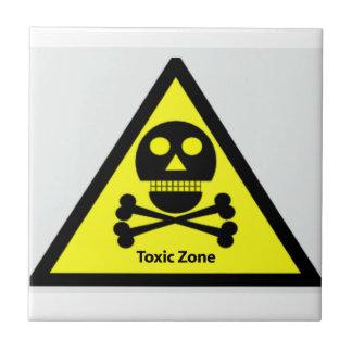 Toxic Zone Sign Ceramic Tile