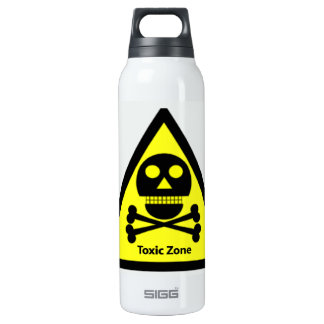 Toxic Zone Sign Insulated Water Bottle