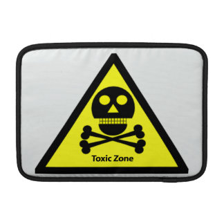 Toxic Zone Sign Sleeve For MacBook Air