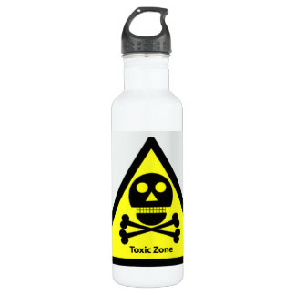 Toxic Zone Sign Stainless Steel Water Bottle