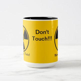 ¡Tóxico! ¡Advertencia! No toque la taza