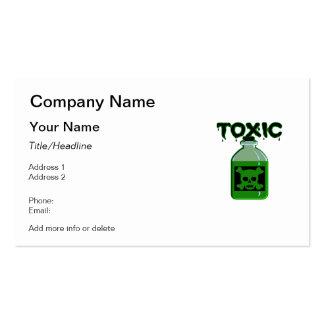 Tóxico (botella del veneno) tarjeta de visita