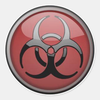 Tóxico del BioHazard Etiquetas Redondas
