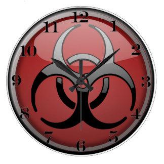 Tóxico del BioHazard Relojes De Pared
