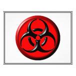 Tóxico del BioHazard - rojo Flyer A Todo Color