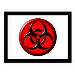 Tóxico del BioHazard - rojo Postal