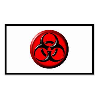 Tóxico del BioHazard - rojo Plantillas De Tarjetas Personales