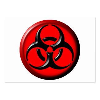 Tóxico del BioHazard - rojo Tarjetas De Negocios