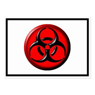 Tóxico del BioHazard - rojo Tarjetas De Visita