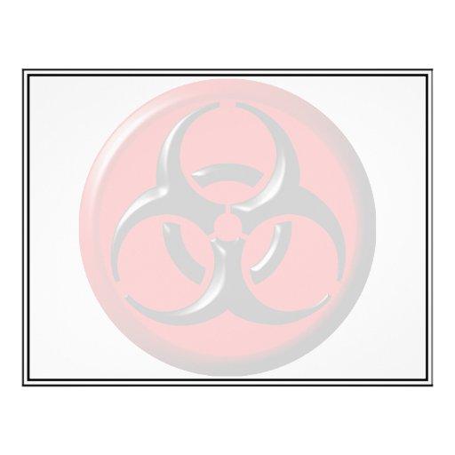 Tóxico del BioHazard - rojo Tarjetas Publicitarias