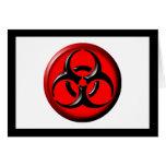 Tóxico del BioHazard - rojo Tarjeton